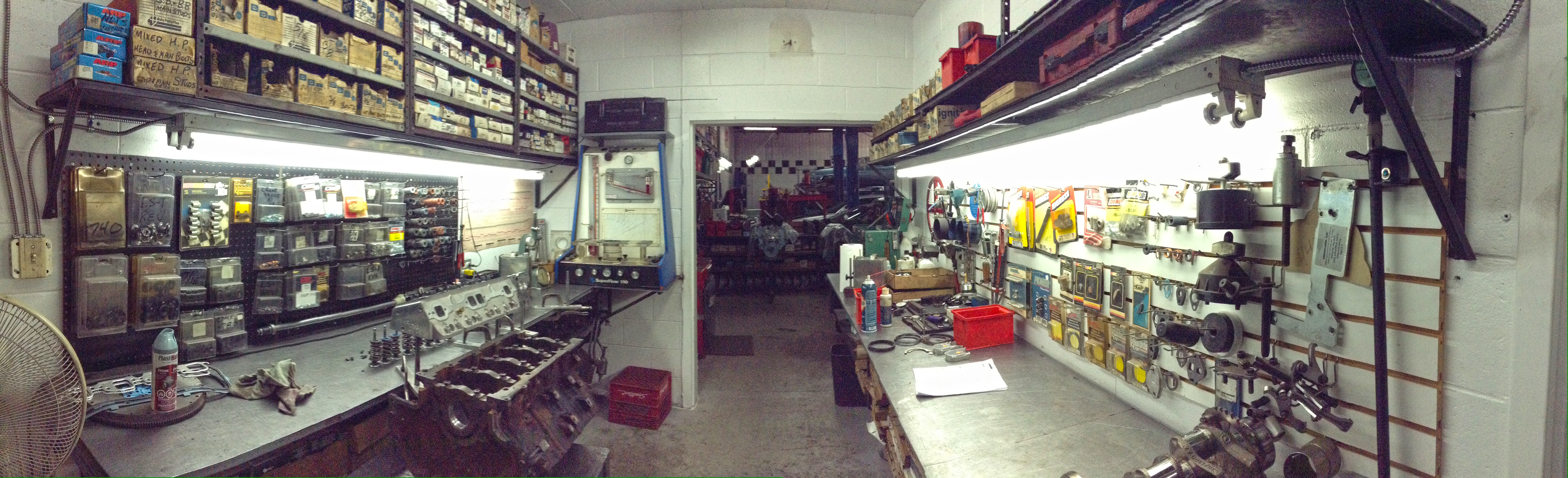 engine assembly area