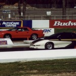 Terry Maxwell racing in Englishtown ET 11.93 at 117 mph w/383 ci LT1 auto
